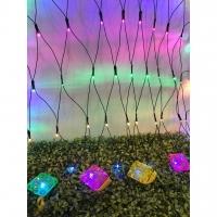 RAYA 192L 3*1M LED Net Light Crystal Ketupat - Multi