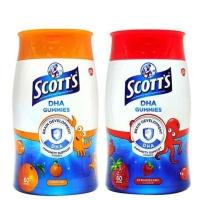Scott's DHA Gummies 60's + 15's (Strawberry/Orange/Blackcurrant)