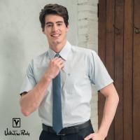 (Valentino Rudy)Valentino Rudy - Luddy - Short Sleeve Shirt - Satin Surface - Blue - Dark Strap