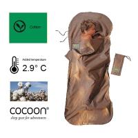 (COCOON)Cotton children's sleeping bag inner pocket - khaki