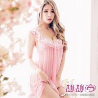 (甜甜心)[Sweetheart] Beautiful and beautiful. Doll style mesh pajamas