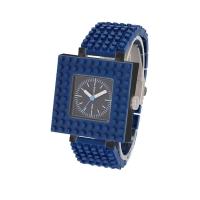 Bricor miniature building blocks DIY design watch square series-dark blue
