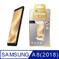 AmazingThing 三星 Galaxy A8(2018) 滿版強化玻璃保護貼(黑)