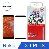 【格森GRAZEN】NOKIA 3.1 PLUS 滿版(黑)鋼化玻璃