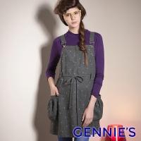 (gennies)Gennies Sweet Playful Sling Dress (Peach Dot / Green Dot G2422)