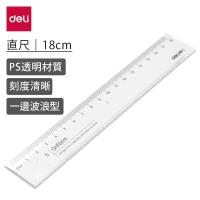 (Deli)Deli Plastic Ruler 18cm(71952)