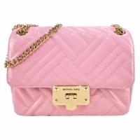 (MICHAEL KORS)MICHAEL KORS Small Fragrance Quilted Turn Button Three-Layer Crossbody Bag-Medium/Carnation Pink