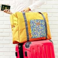 (韓版)[JD] colorful flowers increase the trolley travel pouch - yellow