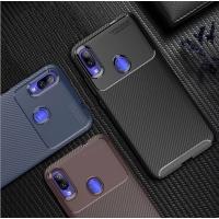 VIVO Y19 Shatterproof Carbon Fiber Pattern Phone Case Protective Case
