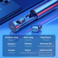WIRELESS BLUETOOTH EARBUDS EARPHONE 5.1 F9 TWS HiFi DUAL EARBUDS TOUCH CONTROL WITH MICROPHONE WATERPROOF 6D 9D EARPHONE