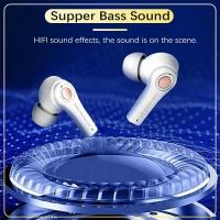 TS-100 9D EARPHONE TWS BLUETOOTH EARPHONE WIRELESS EARBUDS GRAFFITI EXTRA BASS HEADSET WIRELESS EARPHONE GAMING EARPHONE