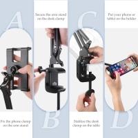 UGREEN PHONE HOLDER ARM LAZY MOBILE PHONE GOOSENECK STAND HOLDER FLEXIBLE BED DESK TABLE CLIP BRACKET FOR PHONE HOLDER