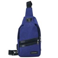 (I.Dear)[I.Dear] outdoor fashion men and women leisure travel USB charging chest diagonal backpack (BG69 blue)
