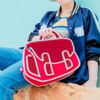 (JumpFromPaper)JumpFromPaper 2D cartoon bag chili red Qiubi bag shoulder bag handbag