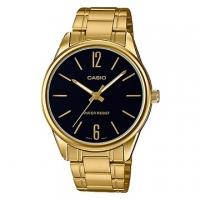 (casio)[CASIO] Trend gentleman fashion gold digital pointer watch - black face (MTP-V005G-1B)