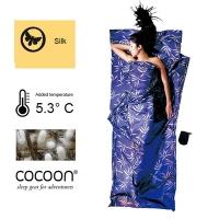 (Cocoon)[Accessories] COCOON Austria Outdoor sleeping bag inside the bag standard natural silkworm silk Bag ML (leaflike pattern)