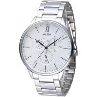 (ALBA)ALBA Beyond Three Eyes Taste Full Moon Men's Watch - White (AZ8005X1)