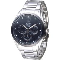 (ALBA)ALBA City New Era Three Eyes Time Men's Watch - IP Black Frame (AT3A95X1)