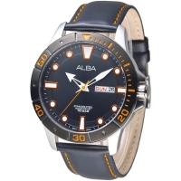 (ALBA)ALBA Metropolitan Fashion Sports Men's Watch - IP Black Frame (AT2045X1)