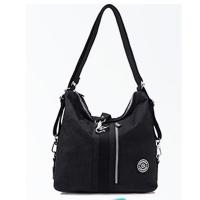 YS9822BK trend wild three-use backpack. handbag. side backpack. casual bag black