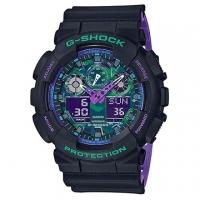 (casio)[CASIO] G-SHOCK neon visual jump camouflage style casual watch (GA-100BL-1A)