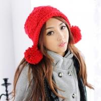 (Aimee Toff)Aimee Toff cute park paradise ball wool cap (red)