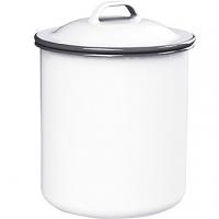 (KitchenCraft)KitchenCraft retro enamel storage tank (white 1000ml)