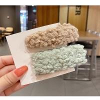 Korean lamb hair sweet curly curly fluff rectangular water drop hairpin hair accessories Korean girl 2 pieces/set