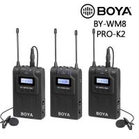 (BOYA)BOYA Boya BY-WM8 PRO-K2 TX8+TX8+RX8 Dual Channel Wireless Microphone Company