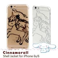 (Sanrio)Sanrio big ear dog likes iPhone6/6s 4.7 吋 transparent cartoon phone case. Riding a unicorn baby