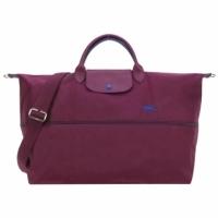 (longchamp)LONGCHAMP Le Pliage Collection Embroidered Extension Mezzanine Handbag / Crossbody Bag (Meihong)