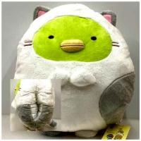 (角落小夥伴)12-inch corner bio cat full body hand warmer pillow pillow backrest pillow-Penguin