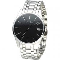 (Calvin Klein)cK TIME minimalism sapphire crystal Mens Watch - Black (K4N21141)