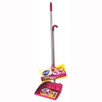 Miaojie Interchangeable Broom and Bucket Set-Red