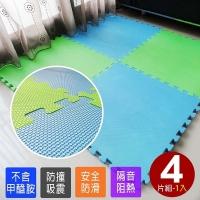 藍綠雙色加厚大地墊(4片)