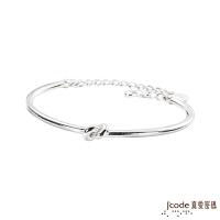 (Jcode)Jcode true love code pairing sterling silver female bracelet