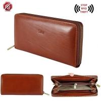 [TAITRA] Sika RFID Blocking Italian Fashion Leather Zipper Long Wallet