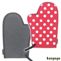 (bargogo)Bargogo Classic Red White Dot Thermal Short Gloves (Pair)-Wetsuit Material