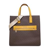 (MICHAEL KORS)MICHAEL KORS MK Full Version Vertical Dual Purpose Shopping Bag-Large/Coffee Yellow