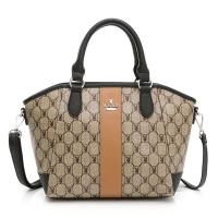 (playboy)PLAYBOY- Handbag with Long Strap Classic Checkered Rabbit Series-Black