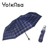 【Yo!kAsa】典雅風格晴雨手開傘(格紋)