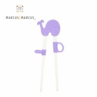 (marcus&marcus)MARCUS&MARCUS Animal Park Children's Learning Chopsticks-Whale (Purple)