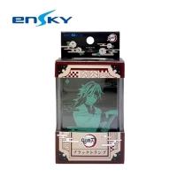 [Japanese Genuine] Ghost Slayer's Blade Plastic Playing Card With Storage Box Waterproof Black Bottom Playing Card Tomioka Yoshiyuki ENSKY-469276
