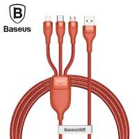 (baseus)Baseus Baseus USB 3-in-1 5A fast charging cable/transmission line 1.2M/orange