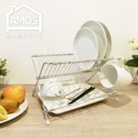 (Amos)【Amos】 stainless steel folding dish rack