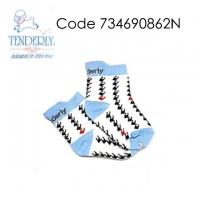( 734690862N ) [SIZE M] TENDERLY TODDLER SOCKS - M - BLUE WHITE