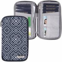 (TRAVELON)TRAVELON Multi-Function Travel Passport Bag (Check)