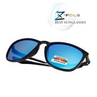 (z-pols)[Z-POLS] Brand-name style TR90 lightweight frame material with REVO electroplated blue Polarized Polarized anti-UV400 sunglasses