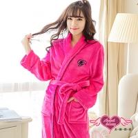 (天使霓裳)[Angel] Seduction French Japanese sweet Valentine plain flannel nightgown (peach)