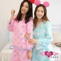 (天使霓裳)Angel Seduction pajamas plush large dot Dress (light blue F)